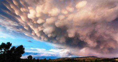 Mammatus, или «вымяобразные» облака