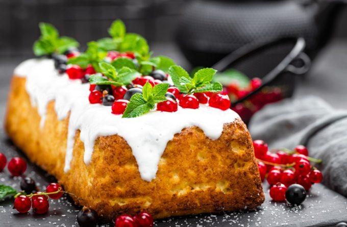 """Сметанный кекс с белым шоколадом """"Белоснежка»"""