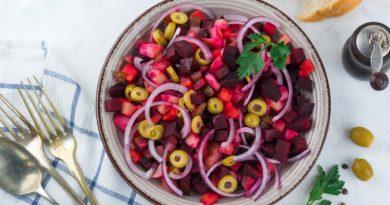 Винегрет с оливками