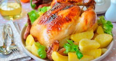 Курица в глазури из соевого соуса