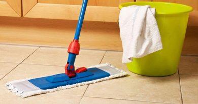 Уборка в доме. Мытье полов
