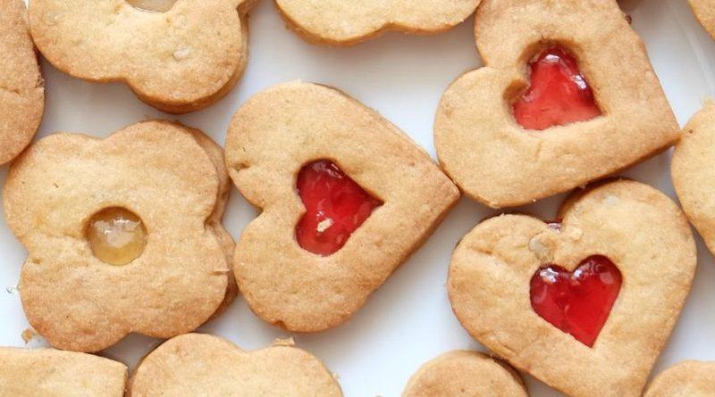 Песочное печенье с джемом
