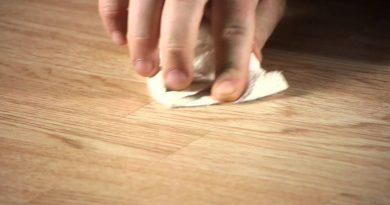 Как убрать царапины на линолеуме