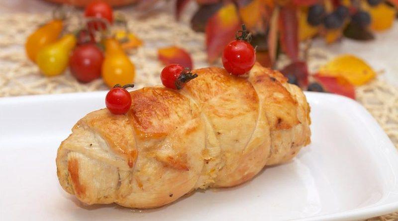 Рулетики из куриного филе с тыквой