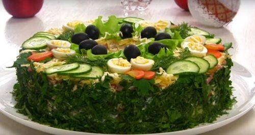 Новогодний салат «Сытый барин»