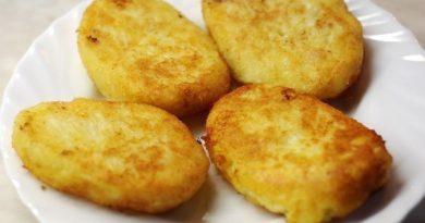 Картофельные котлеты с курицей