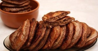 Ароматные шоколадные оладьи