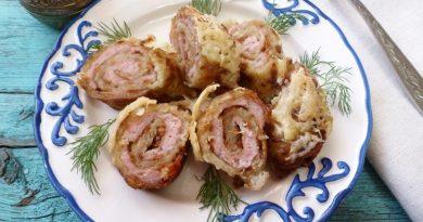 Картофельные рулетики с куриной начинкой