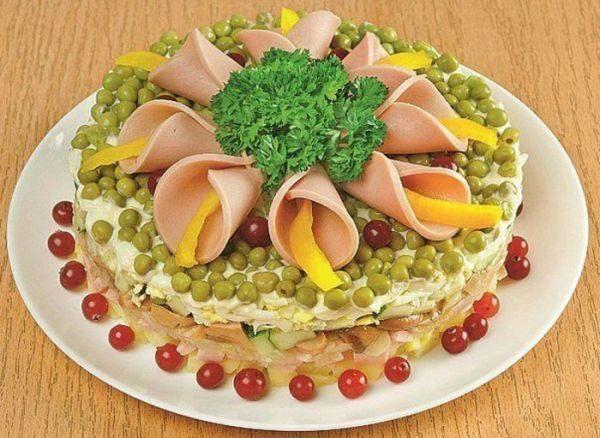 "Салат ""Цветы"""