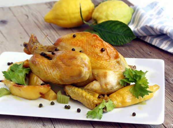 Жареная курица в пакете для запекания