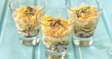 Рецепт салата с курицей и грибами