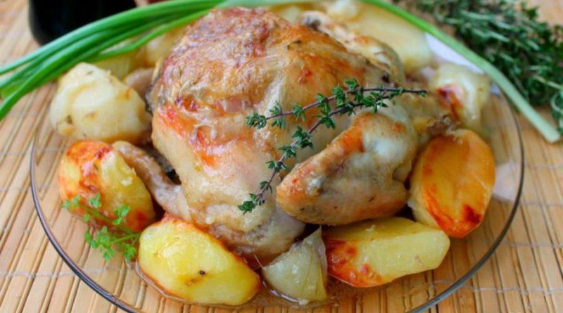 Ароматный цыпленок в духовке