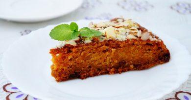 Морковный пирог с изюмом