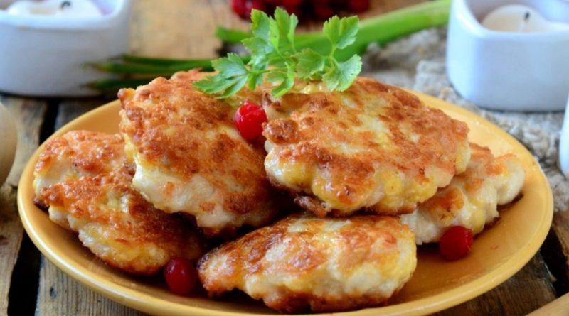 Нежные куриные шницельки с сыром.