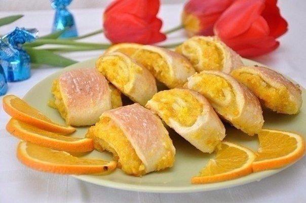 Мягкие апельсиновые печенья
