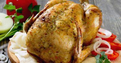 Курица с травами и чесноком
