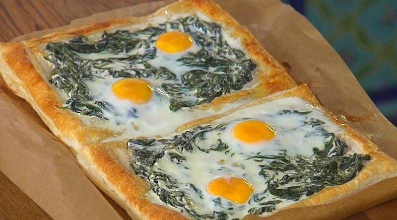 Рецепт пирога с яйцом и шпинатом