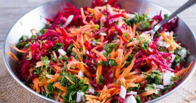 Салат со свеклой и редькой