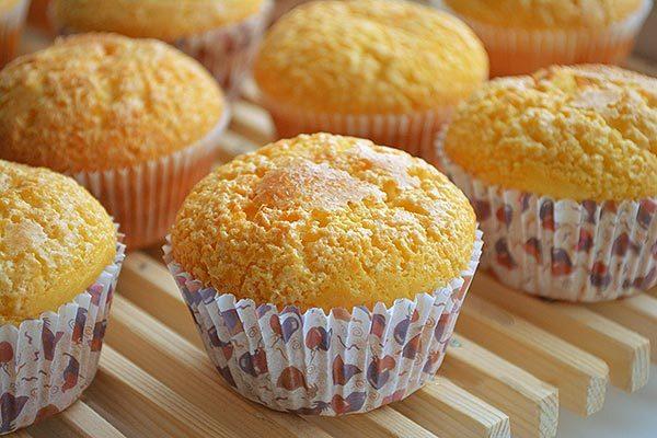 Кексы с апельсиновыми цукатами