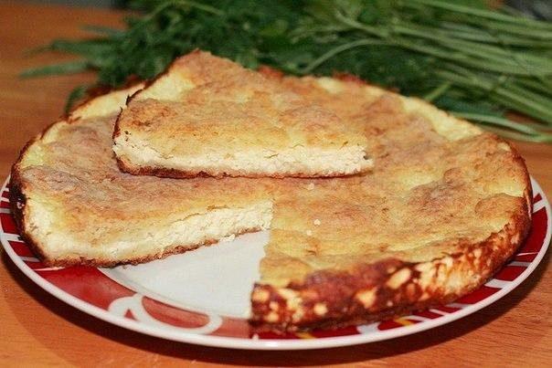 """Пирог """"Хачапури"""" (Пирог с брынзой или сулугуни)"""