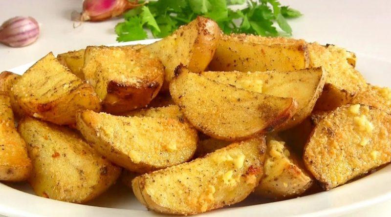 Запеченный картофель с мёдом