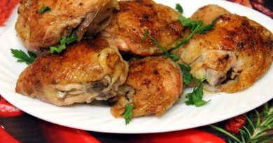 Ароматные запеченные куриные бедрышки
