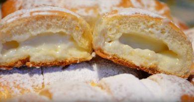 Рецепт булочек с заварным кремом