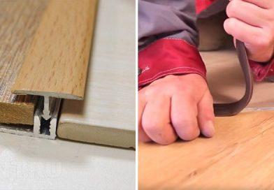 Как правильно выполнить стык плитки и ламината