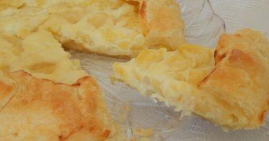Пирог с мягким сыром и картофелем