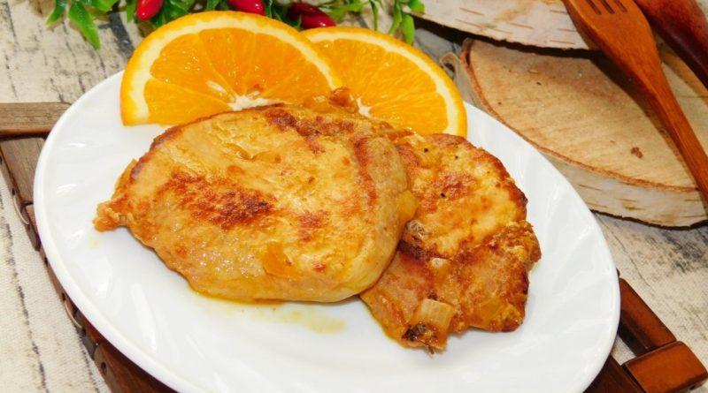 Свинина в горчично-имбирном маринаде с апельсинами