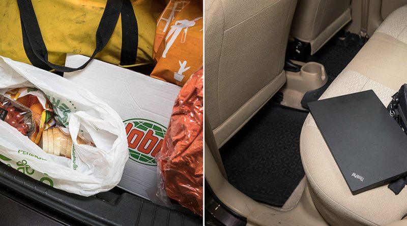 Как спрятать вещи в автомобиле