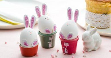 Яйца в виде пасхальных кроликов