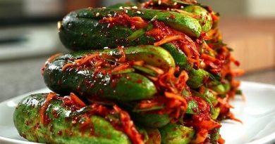 Огуречный кимчи-острая корейская закуска