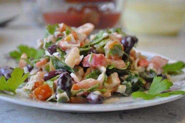 Салат из фасоли «Остренький»