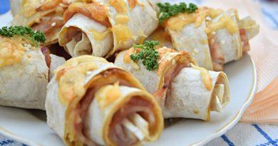 Закусочные рогалики из лаваша