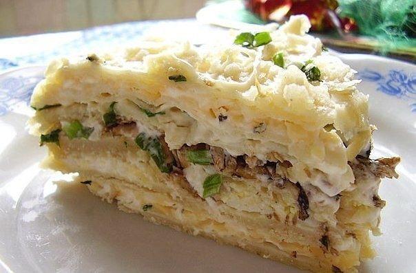 Всеми любимый Шпротный торт