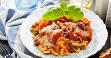 Томатные макароны с овощами - ужин за 15 минут