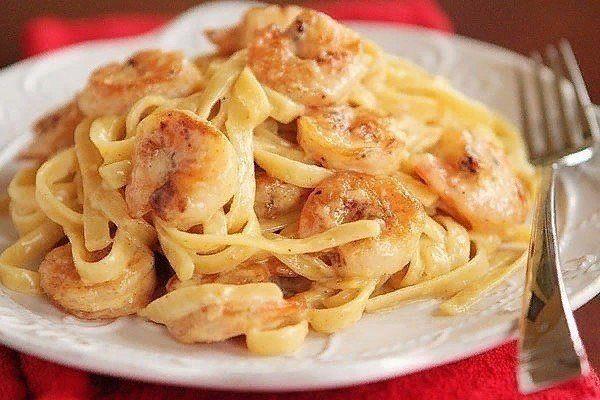 Любимая паста с креветками