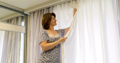 Как легко погладить шторы