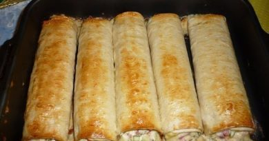 Аппетитная закуска из тонкого лаваша