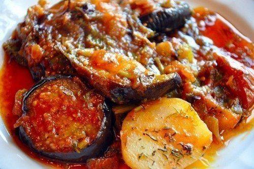 Грузинский аджапсандал из овощей