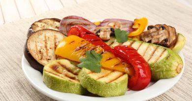 Овощи на сковороде-гриль без масла
