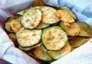 Чипсы из кабачка с сыром