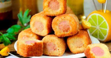Сосиски в картошке или ну очень вкусно