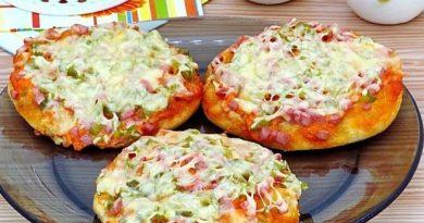 Мини-пиццы в духовке