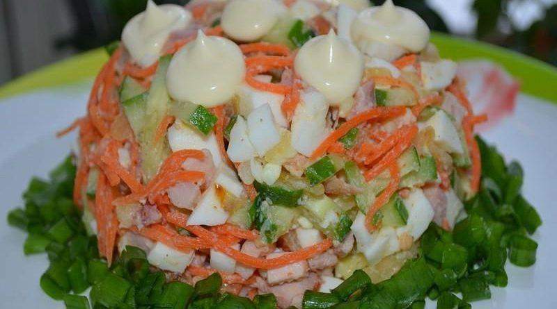 """Салат """"Шедевр"""" с корейской морковью"""