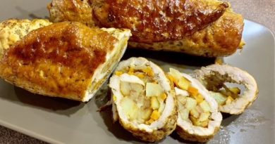 Рецепт мясного рулета с начинкой