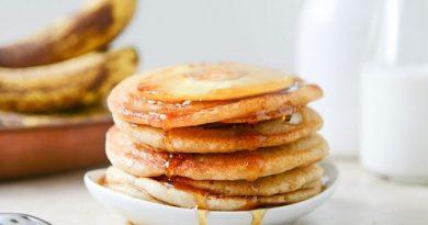 Банановые оладьи с ананасом - Лучший рецепт вкусных блинов