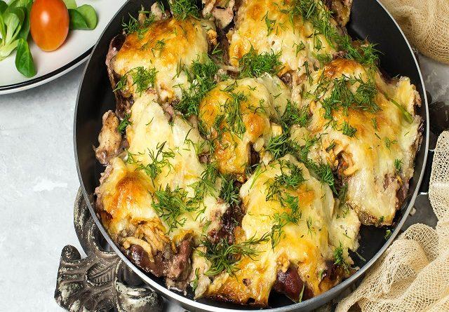 Быстрое мясо по- французски на сковороде