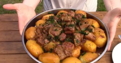 Рецепт картофеля с мясом в казане